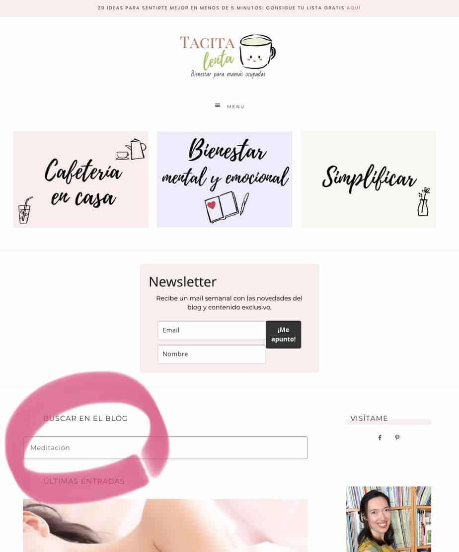 Cómo buscar en blog
