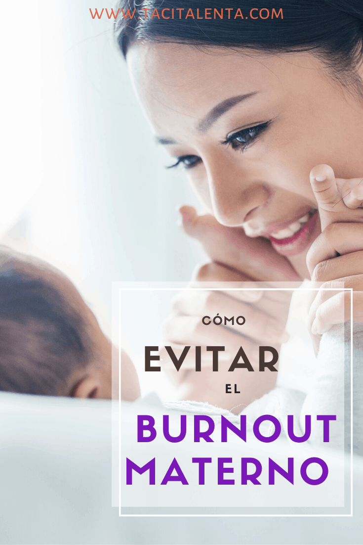 Evitar burnout maternal