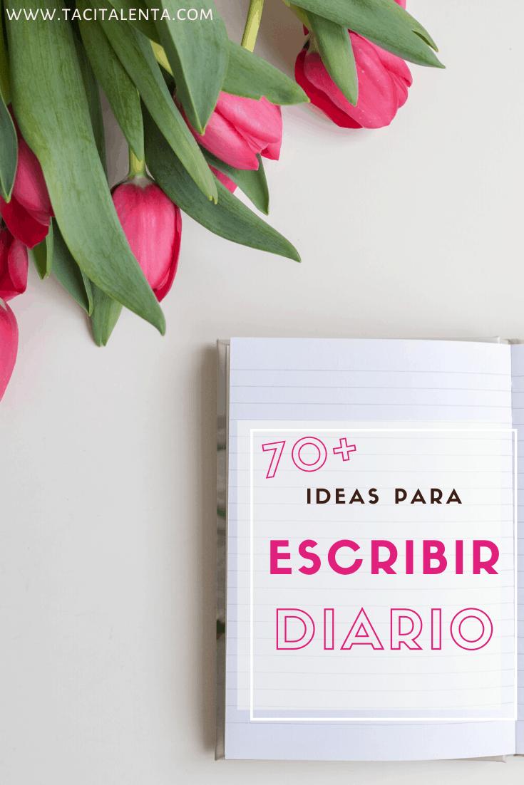 Ideas para escribir diario personal