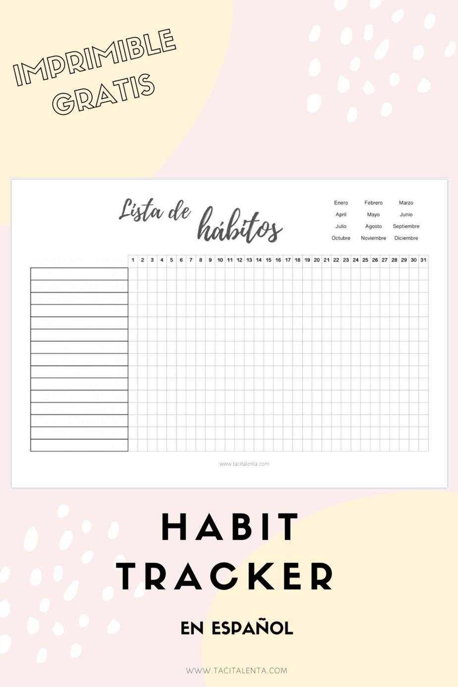 Habit tracker (registro de hábitos) tacita lenta