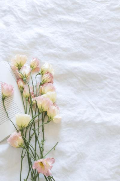 Libro agradable con flores