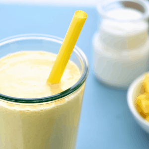 Batido de yogur con mango