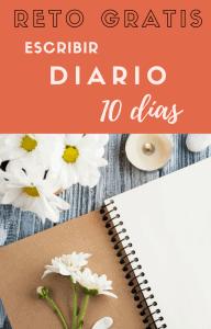 Cuaderno en blanco para escribir diario