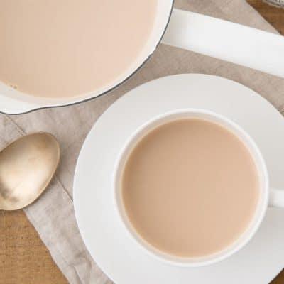 Taza de té japonés Royal milk tea