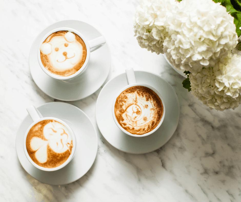 Latte art con espuma de leche