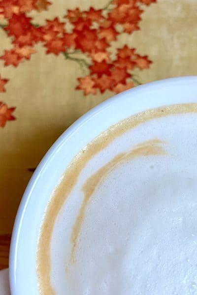 Latte de calabaza sin café