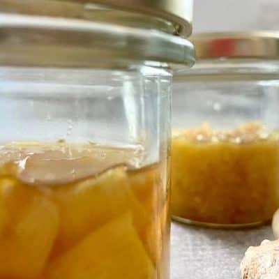 2 botes de miel con jengibre