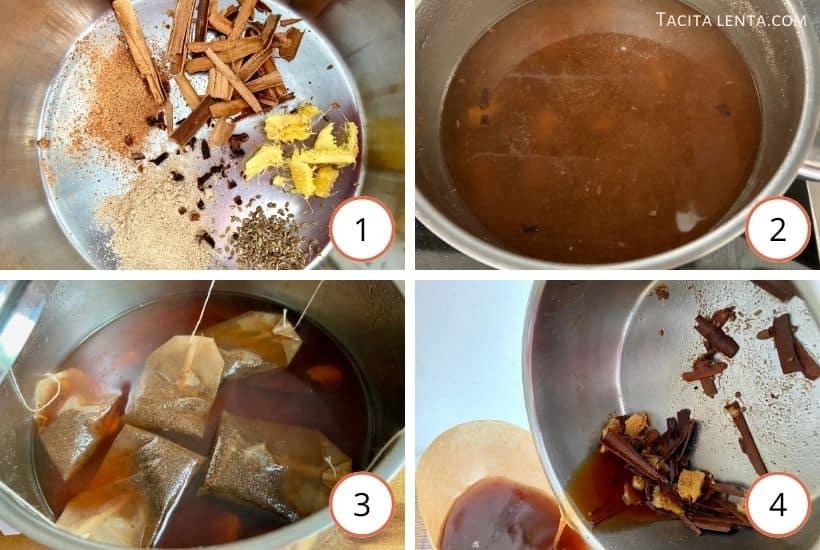 Pasos para hacer chai casero