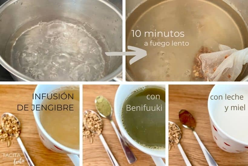 Preparación y formas de tomar infusión de jengibre
