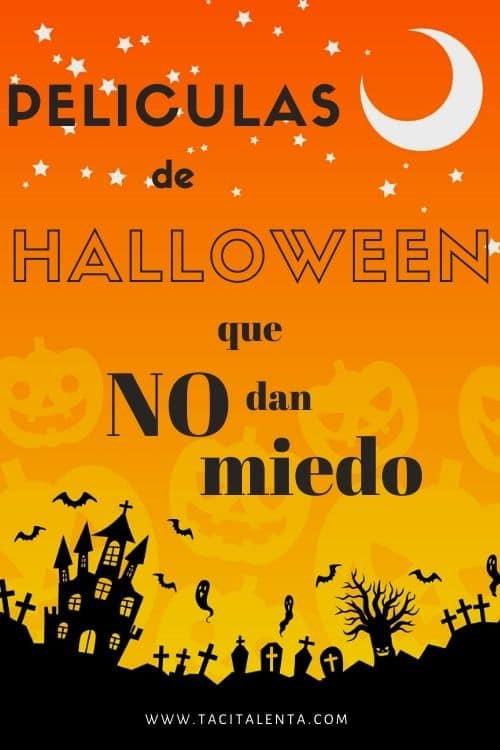 Ilustración de Halloween con calabazas naranjas y solita de ciudad negra