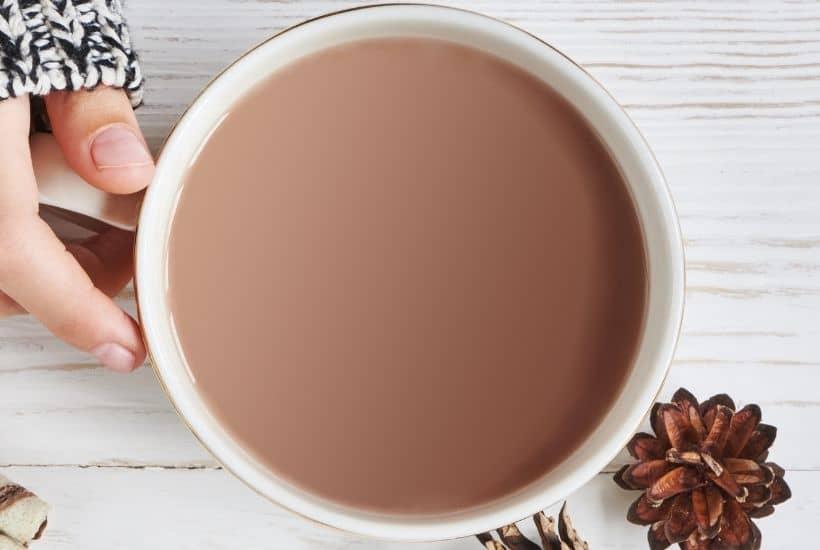 Taza de chocolate para beber casero